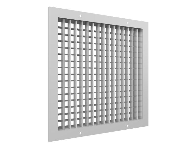 600 Series aluminum louvered grille