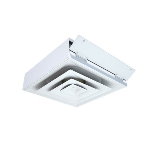 Diffuser with integrated ceiling-access filter