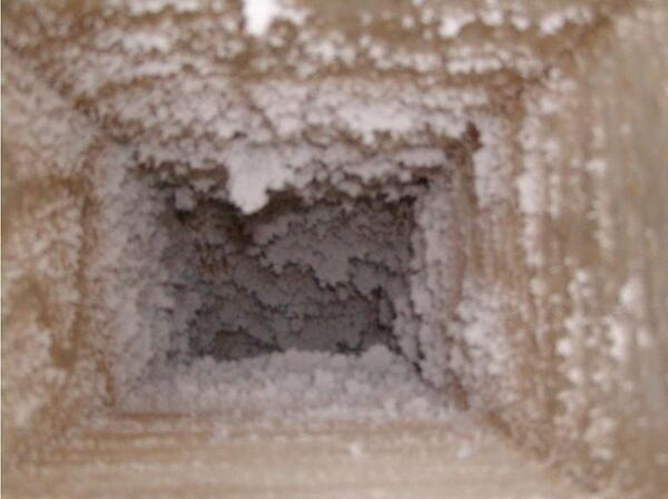 Particulate build up in duct