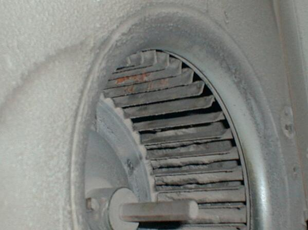 Particulate on blower wheel