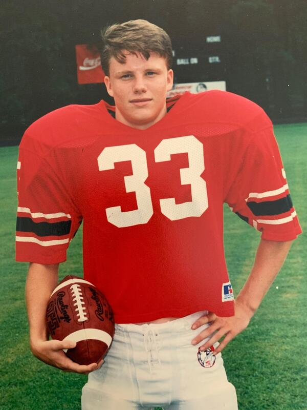 Jeff Rogers in his football uniform