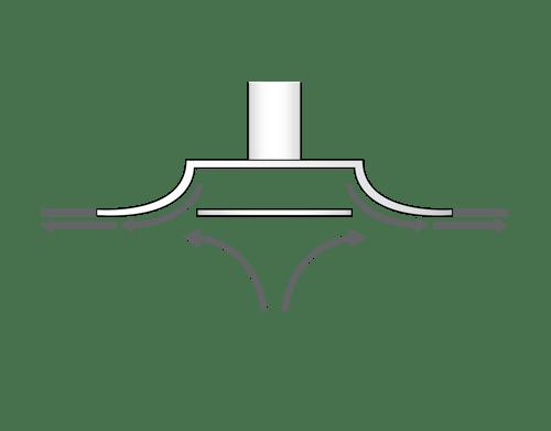 square plaque diffuser airflow pattern