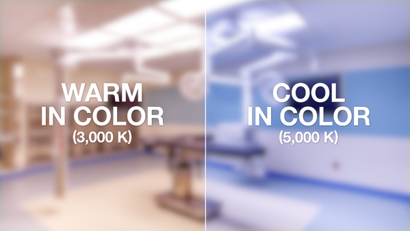 Warm and cool color temperatures