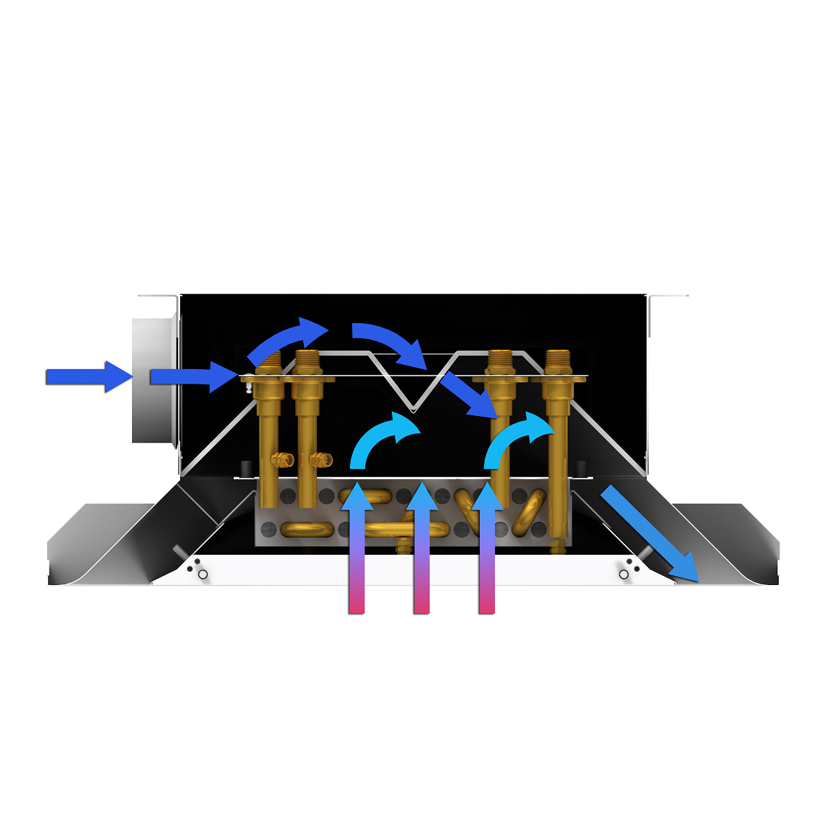 Active Chilled Beam airflow