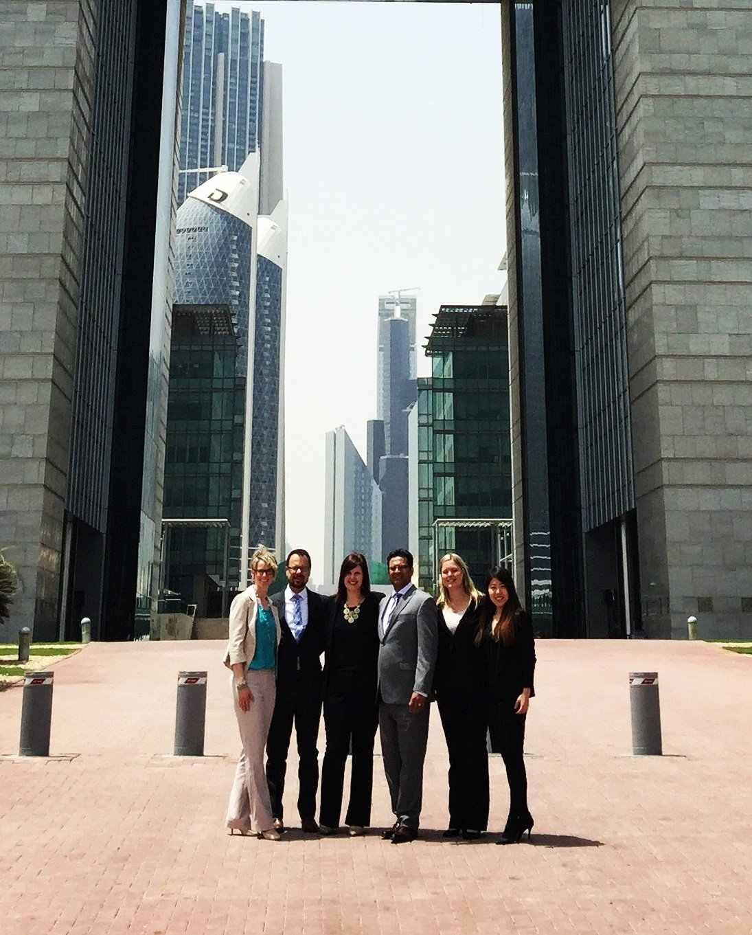 Gillian Groening and her MBA team in Dubai